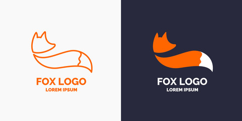 Vector modern Fox logo and emblem.