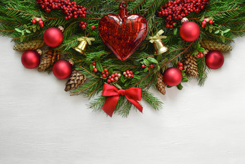 Christmas or New Year background with a space for a text