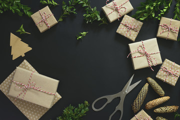 Christmas or New Year holiday background
