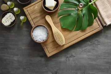 Spa products arrangement