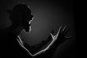 Screaming man Fototapete