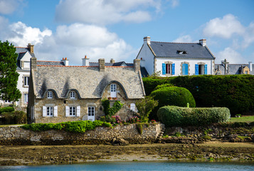 Typical french village of Saint Cado in Brittany Wall mural
