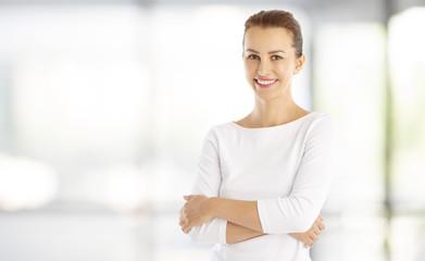 Confident young woman portrait