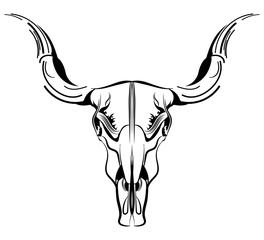 Bull's head vector / line art