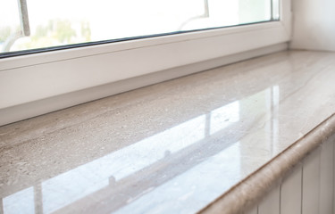 Modern window sill, closeup