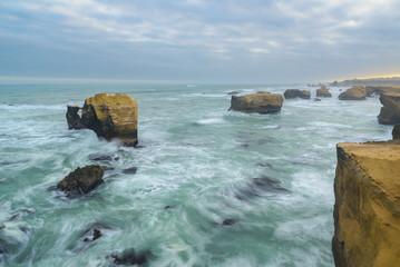 Sandstone formations at Marcona coast, Peru
