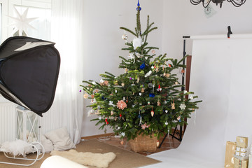 studio- festive scene of photographic studio