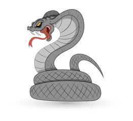 Spooky Vector Snake - Cobra