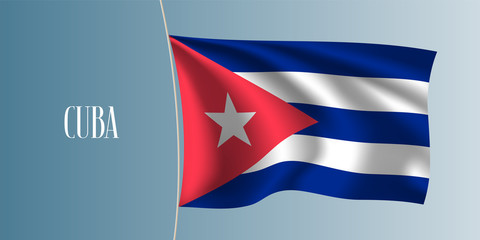 Cuba waving flag vector illustration