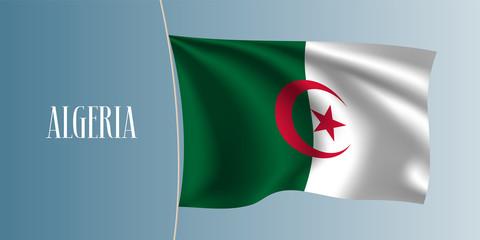 Algeria waving flag vector illustration