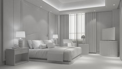 Schlafzimmer komplett in weiß