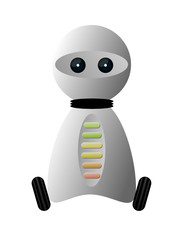 Mały robot na kółkach