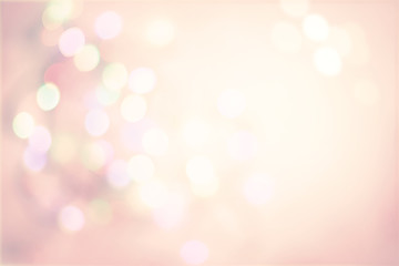 Pink Pastel Vintage Background with Defocused Spots Light boke