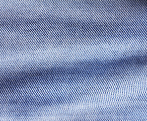 Close up  denim  blue jeans surface with wave texture background