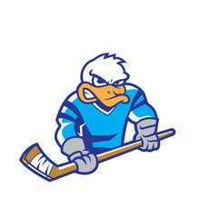 Angry duck mascot for hockey team