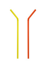 Two drinking straw isolated on white background.