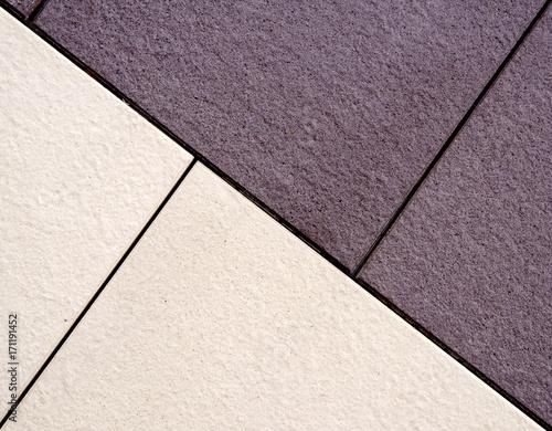 Bodenfliesen, Muster in zwei Farben\