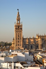 Spain, Andalusia, Seville, Barrio Santa Cruz, La Giralda