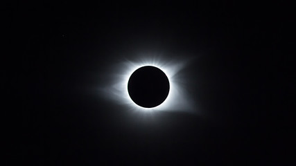 Solar eclipse in its totality as seen from Columbia, SC August 21st 2017
