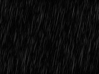 Vector rain texture on black. Abstract vector background