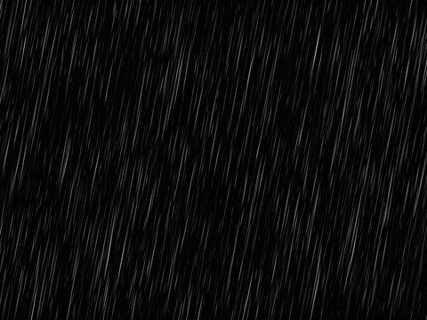 Vector rain texture on black. Abstract vector background