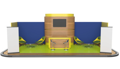 booth or kiosk with roll-up