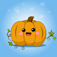 Cute Halloween Pumpkin with splash, Season greeting poster