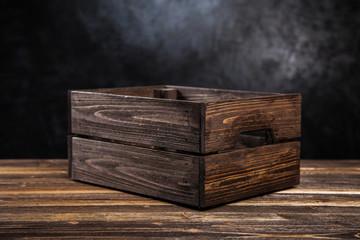 Fotoväggar - Empty wooden crate