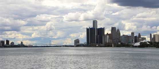 Detroit, Michigan, Windsor, Ontario and the Ambassador Bridge