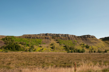 Hill in Borgarfjordur Iceland