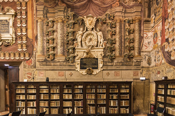 The Archiginnasio library of Bologna