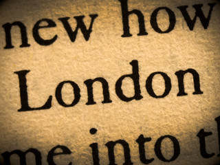 Word london in the text