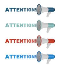 Megaphone. Attention concept.