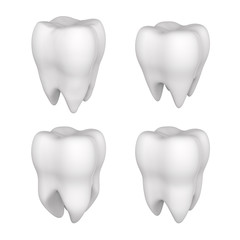 3d tooth isolated