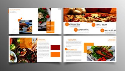 Modern food brand brochure template