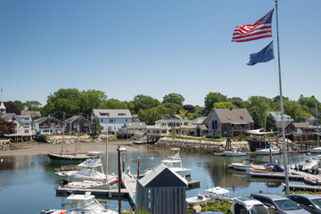 Kennebunkport New England Maine on a sunny afternoon