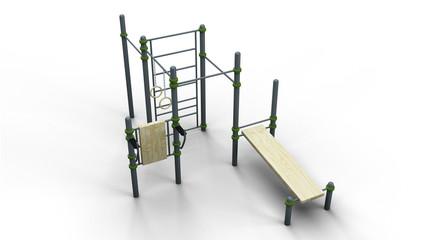 street sport 8 rack 3d illustration render