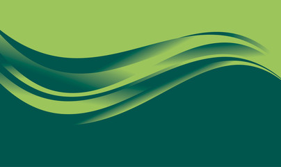 abstract gradient wave background for web and print. vector illustration for surface design. fluent water green color element.