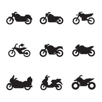 Motorcycles icon set