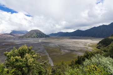 Bromo volcano view from Cemoro Lawang East Java, Indonesia