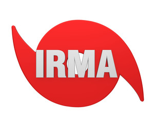 Hurricane Irma Symbol Isolated