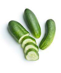 Fresh sliced cucumber.