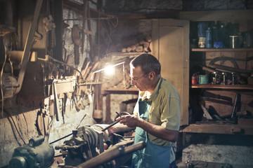 Craftsman at work