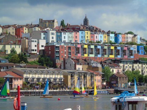 Coloured Houses, Bristol Harbourside, England