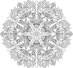 Vector ethnic ornamental art