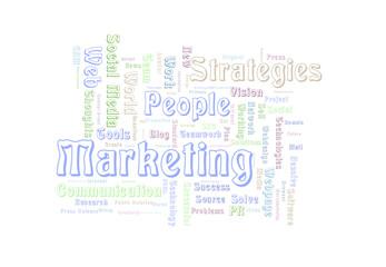 People Marketing word cloud