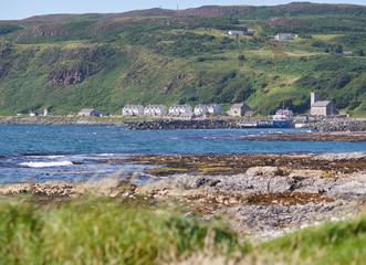 Houses on Rathlin Island, Antrim, Northern Ireland