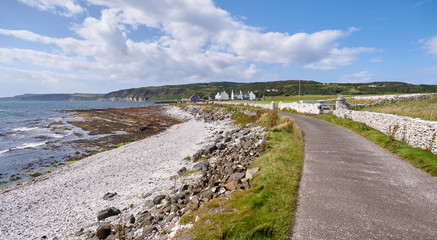 Photo sur Plexiglas Cote Road on Rathlin Island, Antrim, Northern Ireland