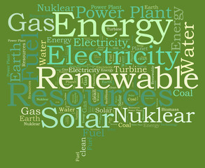 ENERGY recources word cloud