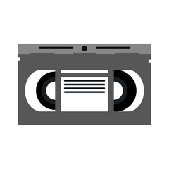 video cassette tape icon image vector illustration design